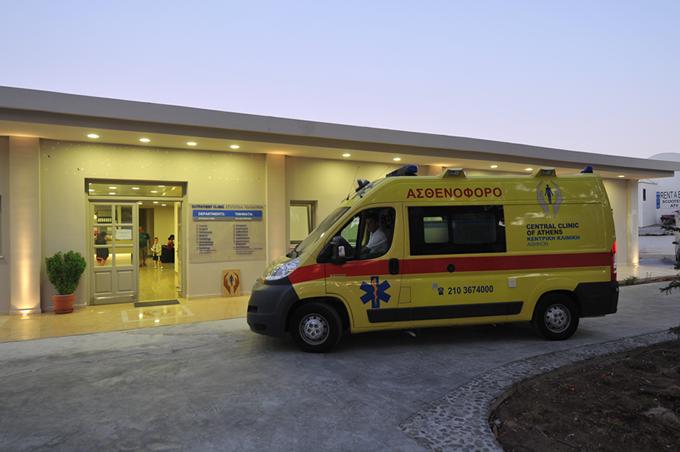 Central Clinic of Santorini ambulance